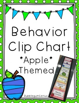 Behavior Clip Chart {Apple Themed}