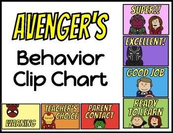 Behavior Clip Chart - Avengers (Version 2)