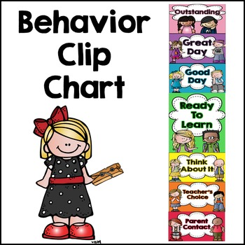 Behavior Clip Chart and Monthly Calendars {Editable}