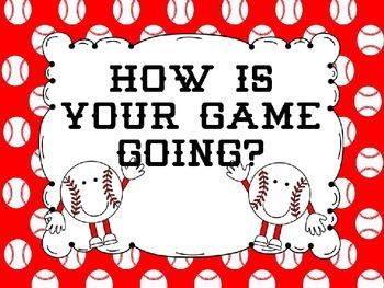 Behavior Clip Chart- Baseball Theme and Editable Red/White Theme