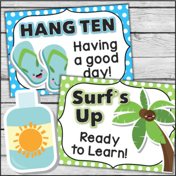 Behavior Chart - Beach Theme Clip Chart