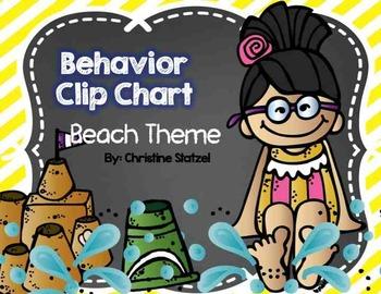 Behavior Clip Chart {Beach Theme}