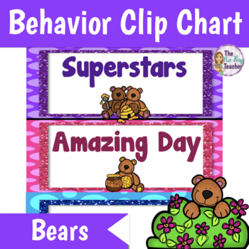 Behavior Clip Chart  Bears Theme