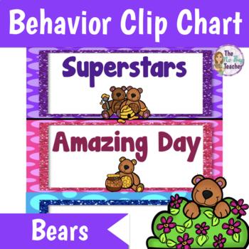 Behavior Clip Chart  Bears Theme