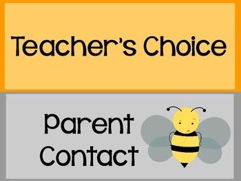 Behavior Clip Chart~ Bee Theme