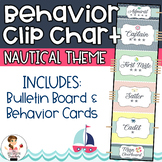 Behavior Clip Chart & Behavior Cards | Nautical Theme