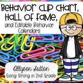 Behavior Clip Chart with Behavior Hall of Fame & Monthly Behavior Reports
