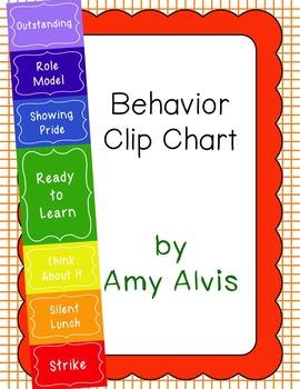 Behavior Clip Chart - Behavior Management