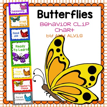 Behavior Clip Chart - Behavior Management - BUTTERFLY 2