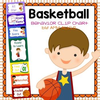 Behavior Clip Chart - Behavior Management - Basketball 2