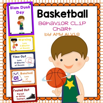 Behavior Clip Chart - Behavior Management - Basketball 3