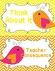 Behavior Clip Chart - Behavior Management - Birds 2