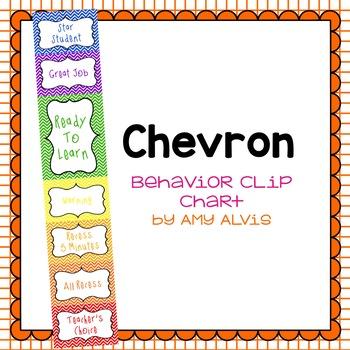 Behavior Clip Chart - Behavior Management - Chevron 5