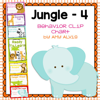 Behavior Clip Chart Behavior Management JUNGLE ANIMALS 4