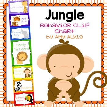 Behavior Clip Chart Behavior Management JUNGLE ANIMALS 5