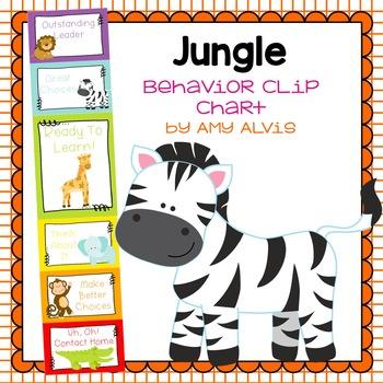 Behavior Clip Chart - Behavior Management - JUNGLE ANIMALS 7