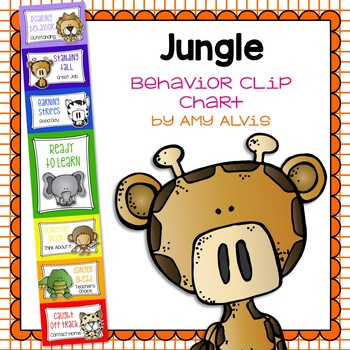 Behavior Clip Chart Behavior Management JUNGLE SAFARI ANIMALS 14