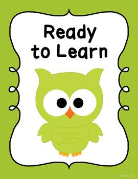 Behavior Clip Chart Behavior Management Owls