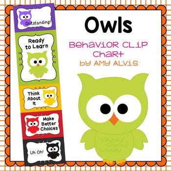 Behavior Clip Chart - Behavior Management - Owls
