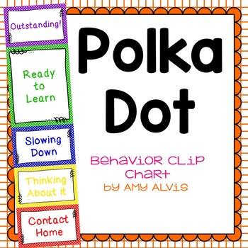 Behavior Clip Chart - Behavior Management - POLKA DOTS 2