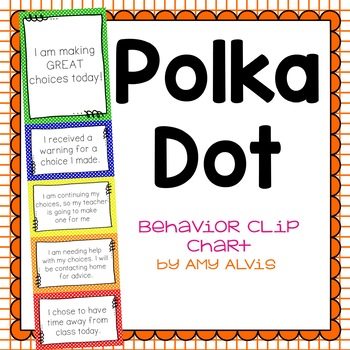 Behavior Clip Chart Behavior Management POLKA DOTS 3