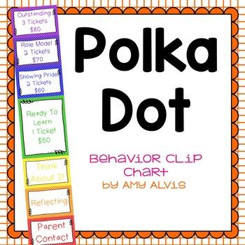 Behavior Clip Chart - Behavior Management - POLKA DOTS 4