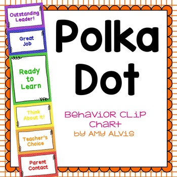 Behavior Clip Chart Behavior Management Polka Dot 5