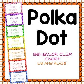 Behavior Clip Chart Behavior Management Polka Dot 6