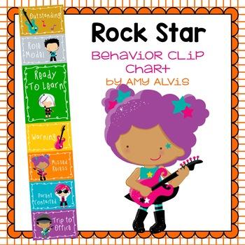 Behavior Clip Chart - Behavior Management - Rock Star
