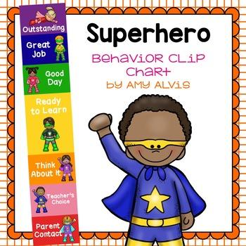 Behavior Clip Chart - Behavior Management - SUPERHERO 3