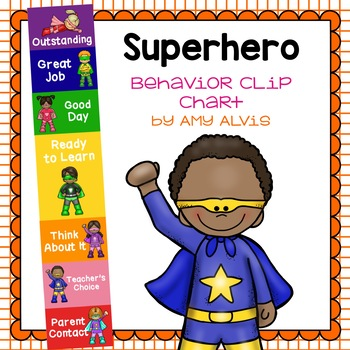 Behavior Clip Chart Behavior Management SUPERHERO 3