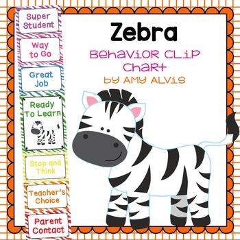 Behavior Clip Chart Behavior Management ZEBRA 4 ZEBRA PRINT