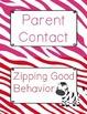 Behavior Clip Chart - Behavior Management - ZEBRA - ZEBRA PRINT