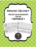 Behavior Clip Chart Documentation & Parent Communication Forms- Edit!- Polkadots