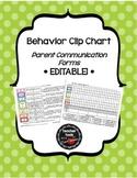 Behavior Clip Chart Documentation & Parent Communication Forms- Edit!- Polkadots