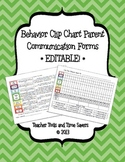 Behavior Clip Chart Documentation & Parent Communication Forms- Edit!- Chevrons