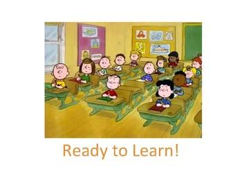 Behavior Clip Chart (Big) (Peanuts Classroom Behaivor Management)