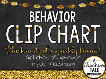 Behavior Clip Chart- Black and Gold Theme