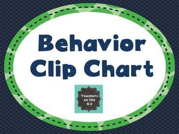 Behavior Clip Chart {Blue & Green Theme}
