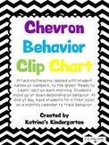 Behavior Clip Chart - Bright Chevron