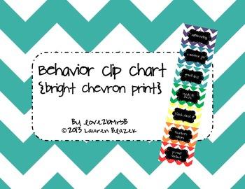 Behavior Clip Chart {Bright Chevron Print}