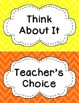 Behavior Clip Chart - Bright Chevron Theme