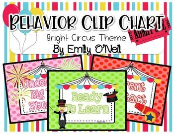 Behavior Clip Chart (Bright Circus Theme)