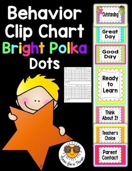 Behavior Clip Chart - Bright Dots