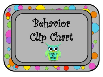 Behavior Clip Chart- Bright Dots with BONUS Poster