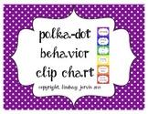 Behavior Clip Chart - Bright Polka Dots