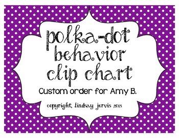 Behavior Clip Chart - Bright Polka Dots {Custom Order for Amy}