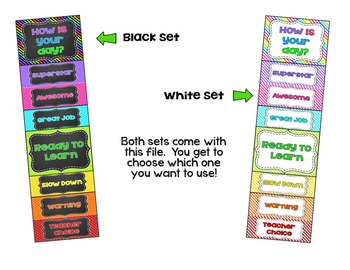 Behavior Clip Chart - Bright Stripes