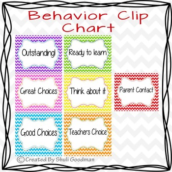 Behavior Clip Chart - Bright chevron