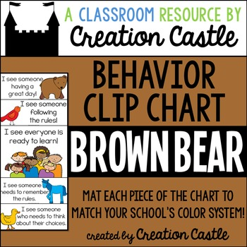 Brown Bear and Friends Behavior Clip Chart
